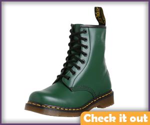 Green Dr. Martens Boots.