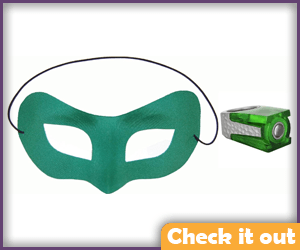 Green Lantern Costume Classic Ring and Mask Set.