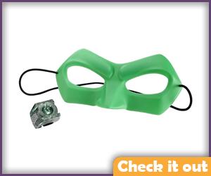 Green Lantern Costume Movie Ring and Mask Set.