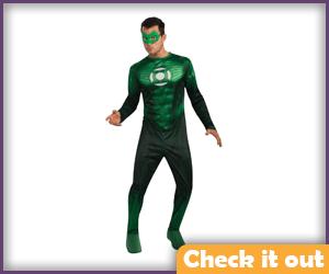 Green Lantern Costume Movie Bodysuit.