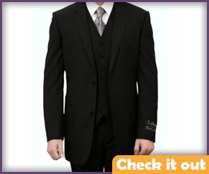 Black 3-Piece Suit.
