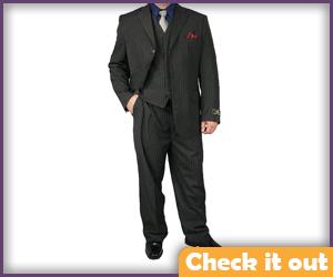 Grey Pinstripe Suit.