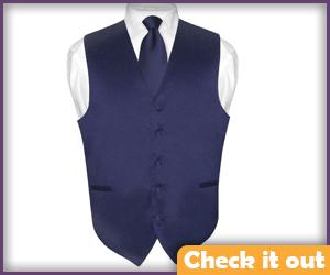 Navy Suit Vest.