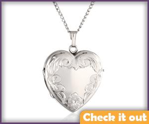 Silver Heart Locket.