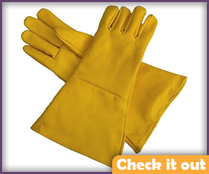 Yellow Gauntlet Gloves.