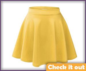 Yellow Mini Skirt.