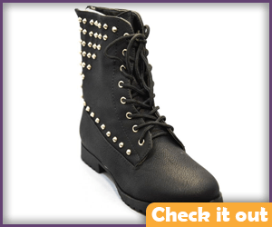 Black Studded Boots.