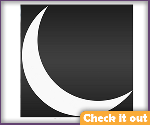 Crescent Moon Sticker (5 inches).