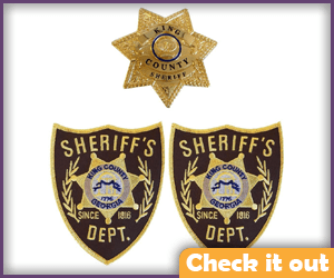 Rick Grimes Costume Sheriff Badges.