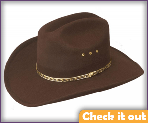Brown Cowboy Hat.