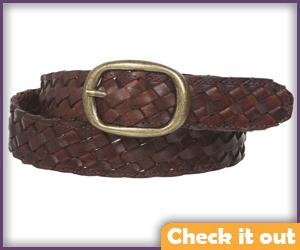 Brown Braided Belt.