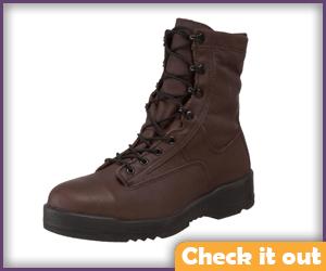 Brown Combat Boots.