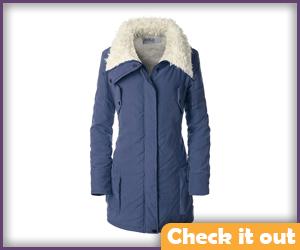 Blue Coat White Fur Lined.