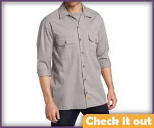 Light Grey 3/4 Sleeve Shirt.