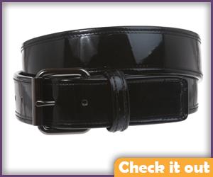 Black Patent Leather Belt.