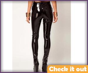 Black Patent Leather Pants.