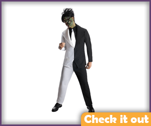 Two Face Costume Black and White.
