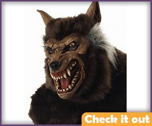 Wolfman Growling Mask.