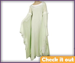 Arwen Cosplay Green Dress.