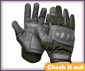 Grey Tactical Gloves.