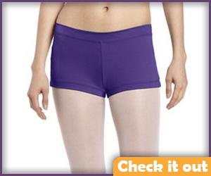 Purple Tight Shorts.