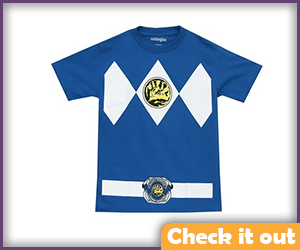 Blue Power Ranger Costume Tee.