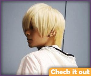 Blonde Short Wig.