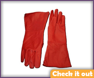 Red Gauntlet Gloves.