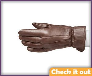 Brown Leather Gloves.