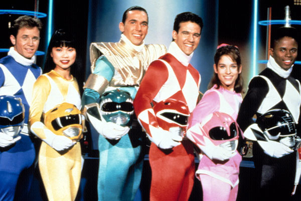 Mighty Morphin Power Rangers Cast Reference Image.