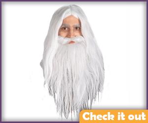 Gandalf White Beard and Wig.