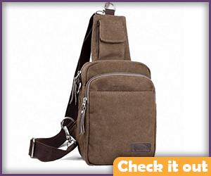 Brown Cross-body Bag.