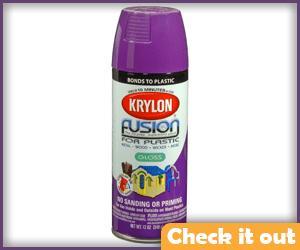 Purple Spray Paint.