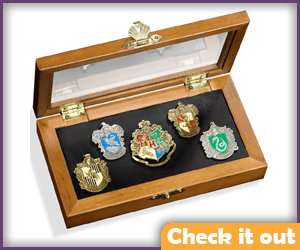 Hogwarts Crest Pin Set.