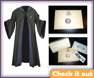 Ravenclaw Costume Robes with Letter.