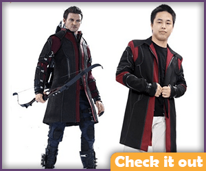 Hawkeye Costume Red Jacket.