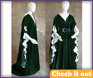 Margaery Tyrell Costume Green Dress.