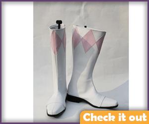 Pink Ranger Boots.