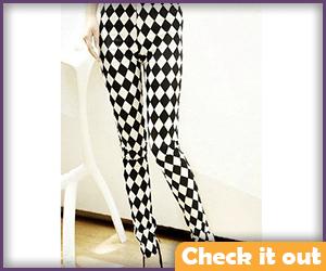 Rag Doll Costume Checkered Leggings.