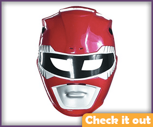 Red Power Ranger Costume Mask.