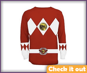 Red Ranger Long-Sleeve Shirt.