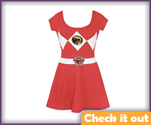 Red Ranger Skater Dress.
