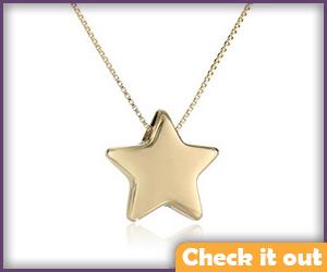 Rosalina Gold Star Necklace.