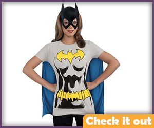 Batgirl Tee with Cape.