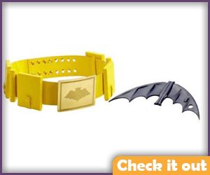 Classic Replica Utility Belt and Batarang.