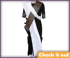 Gaara Costume Black and Brown Set.