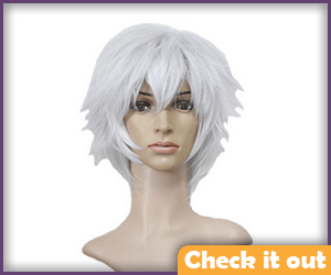 Short Spiky White Wig.