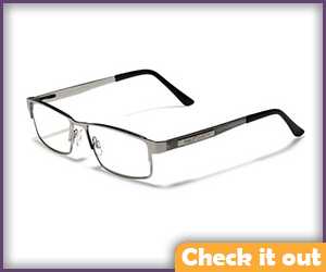 Silver Rectangular Wire Glasses.