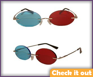Red and Blue Lens Cosplay Sunglasses.