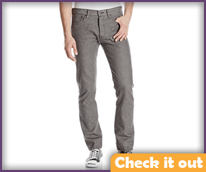 Dimensional Grey Jeans.